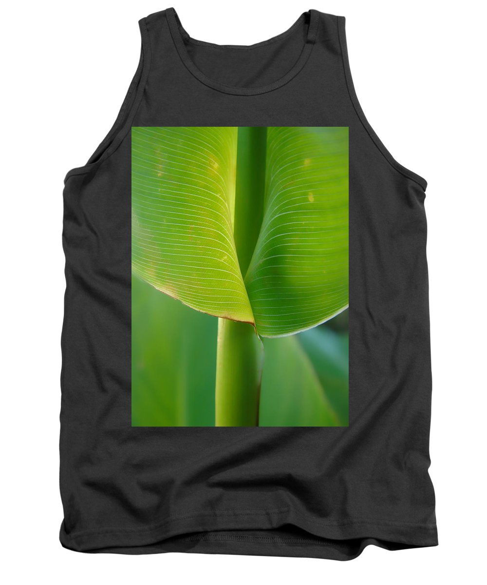 Tropical Tank Top featuring the photograph Tropical Green by Donna Blackhall