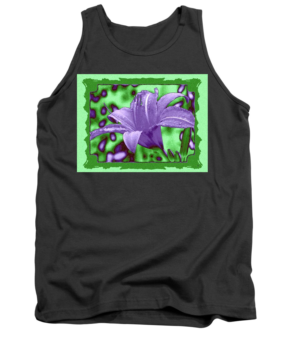 Tropical Lily 4 Tank Top featuring the digital art Tropical Lily 4 by Will Borden