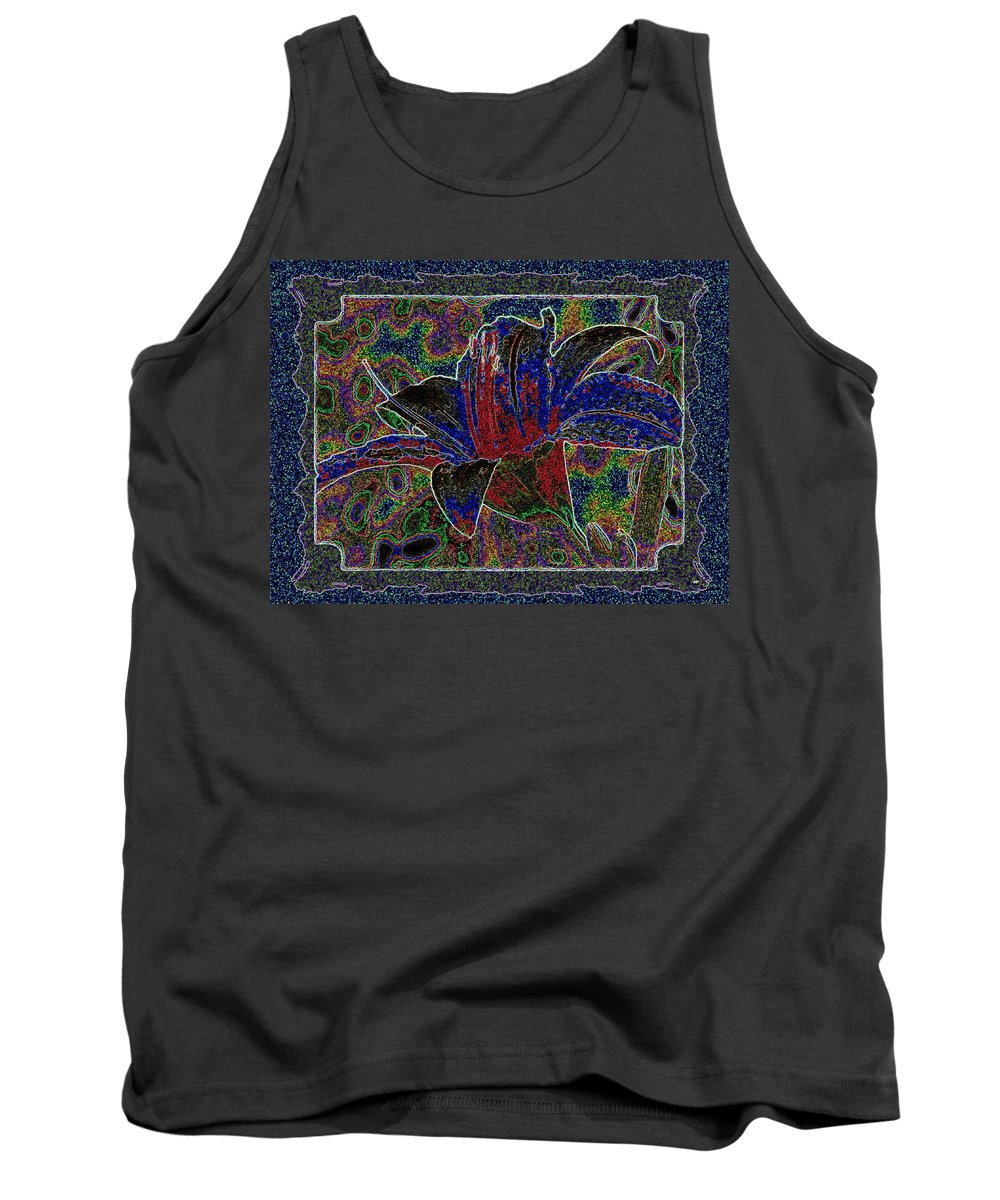 Tropical Lily 5 Tank Top featuring the digital art Tropical Lily 5 by Will Borden