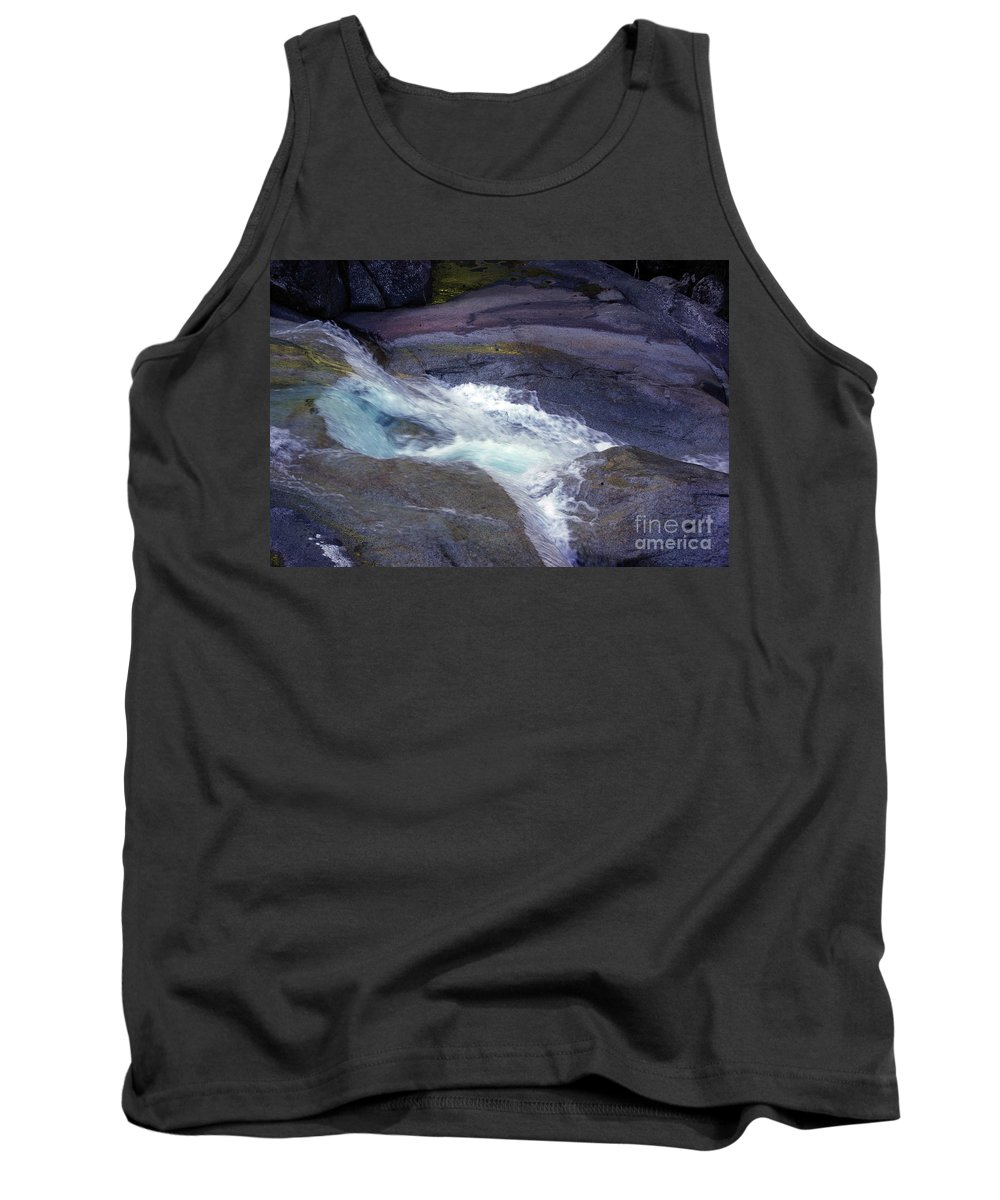 Flowing Tank Top featuring the photograph Tropical Water Bird Josephine Falls by Kerryn Madsen- Pietsch