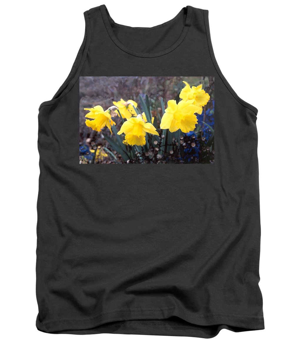 Flowes Tank Top featuring the photograph Trumpets Of Spring by Steve Karol