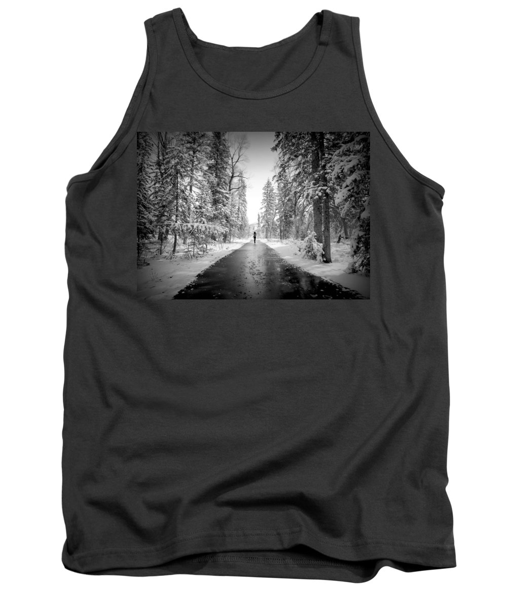 Snow Tank Top featuring the photograph Trying To Escape The Snow by Danielle Marie