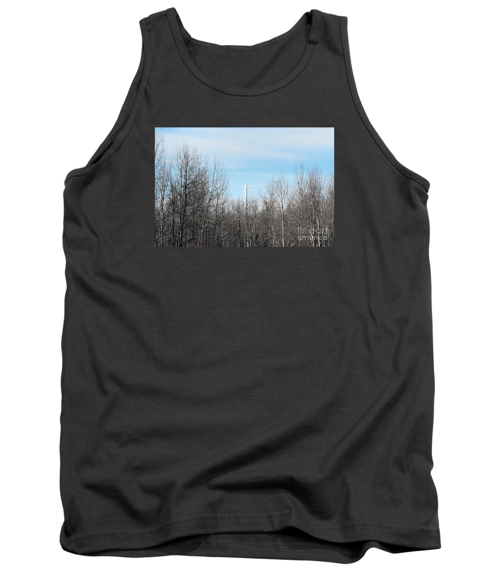 Woods Tank Top featuring the photograph Trying To Fit In by William Tasker