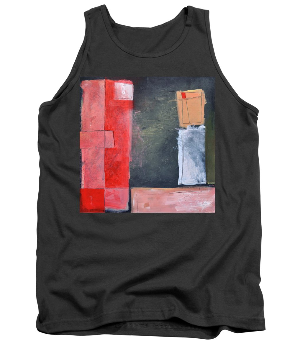 Pink Tank Top featuring the painting Trying To Get My Head Around Pink by Tim Nyberg