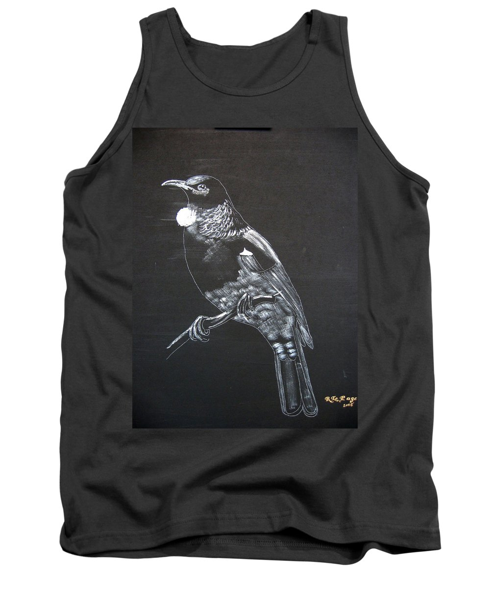 Tui Tank Top featuring the painting Tui by Richard Le Page
