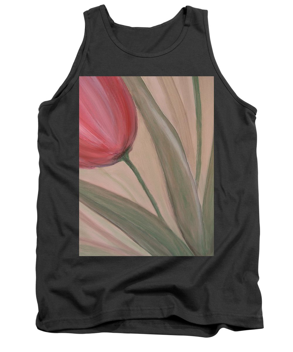 Tulips Tank Top featuring the painting Tulip Series 2 by Anita Burgermeister
