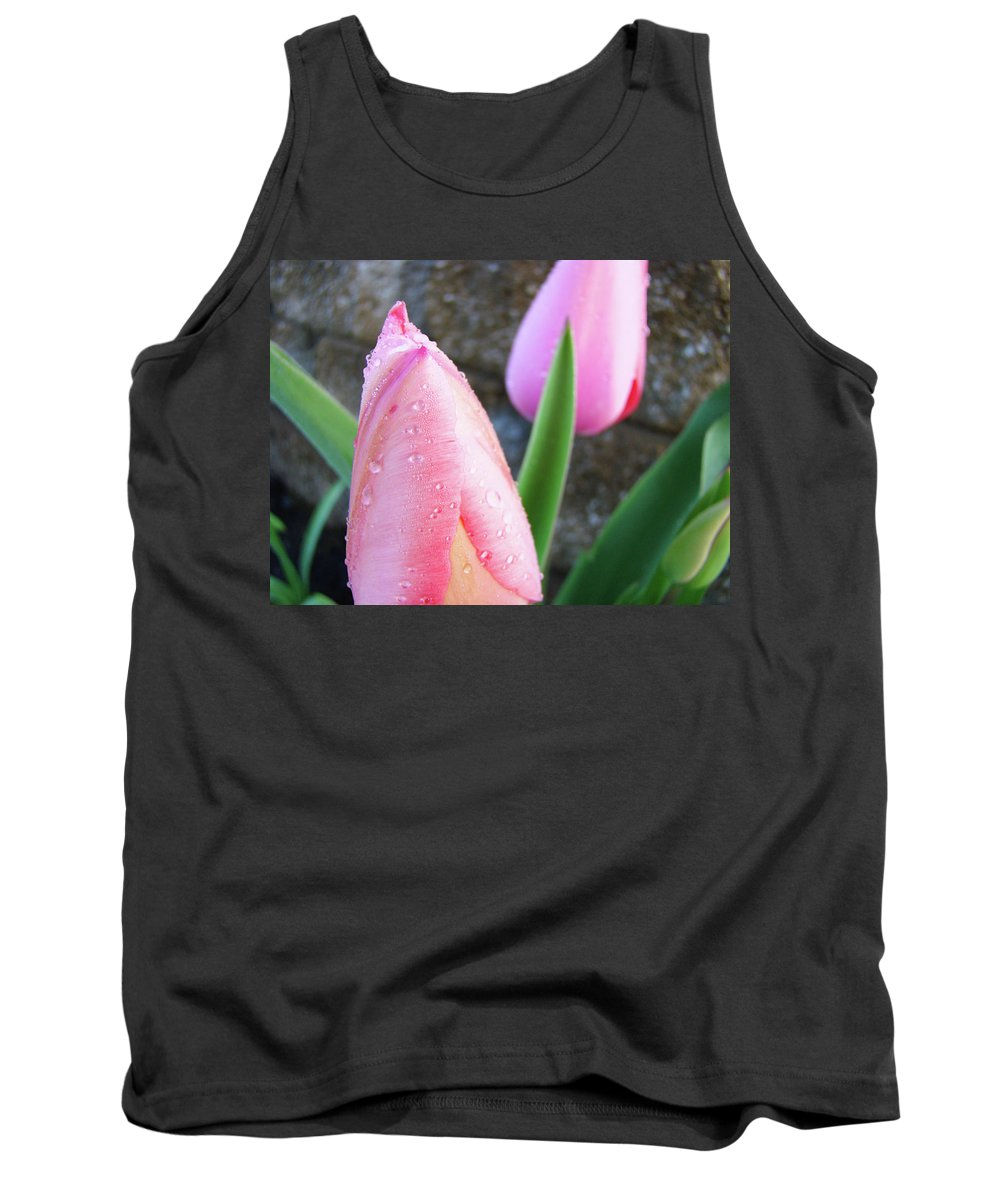 �tulips Artwork� Tank Top featuring the photograph Tulips Artwork Pink Tulip Flowers Srping Florals Art Prints Baslee Troutman by Baslee Troutman