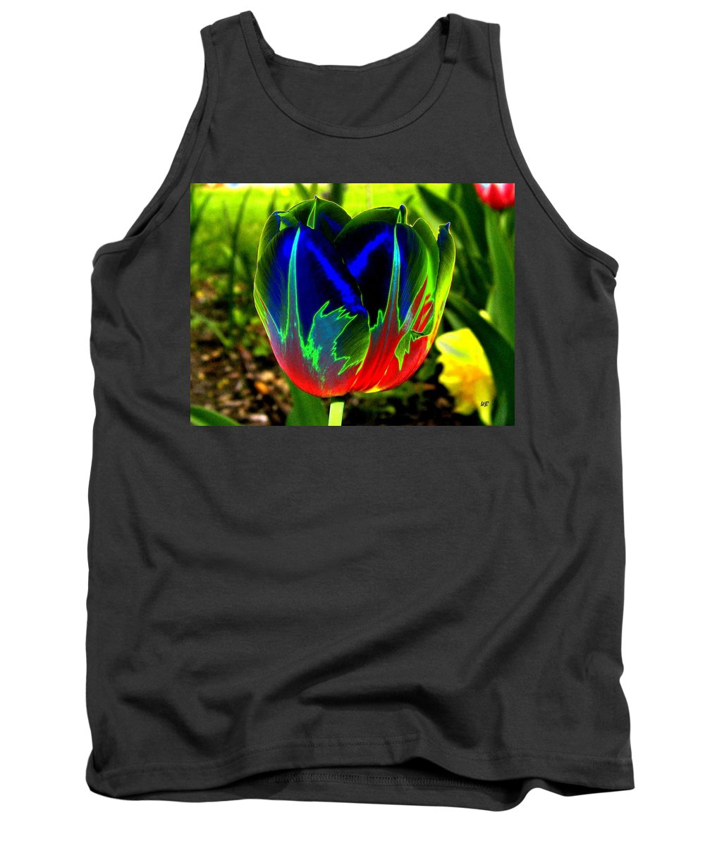 Resplendent Tank Top featuring the digital art Tulipshow by Will Borden
