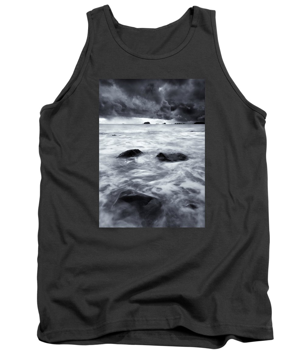 Sitka Tank Top featuring the photograph Turbulent Seas by Mike Dawson