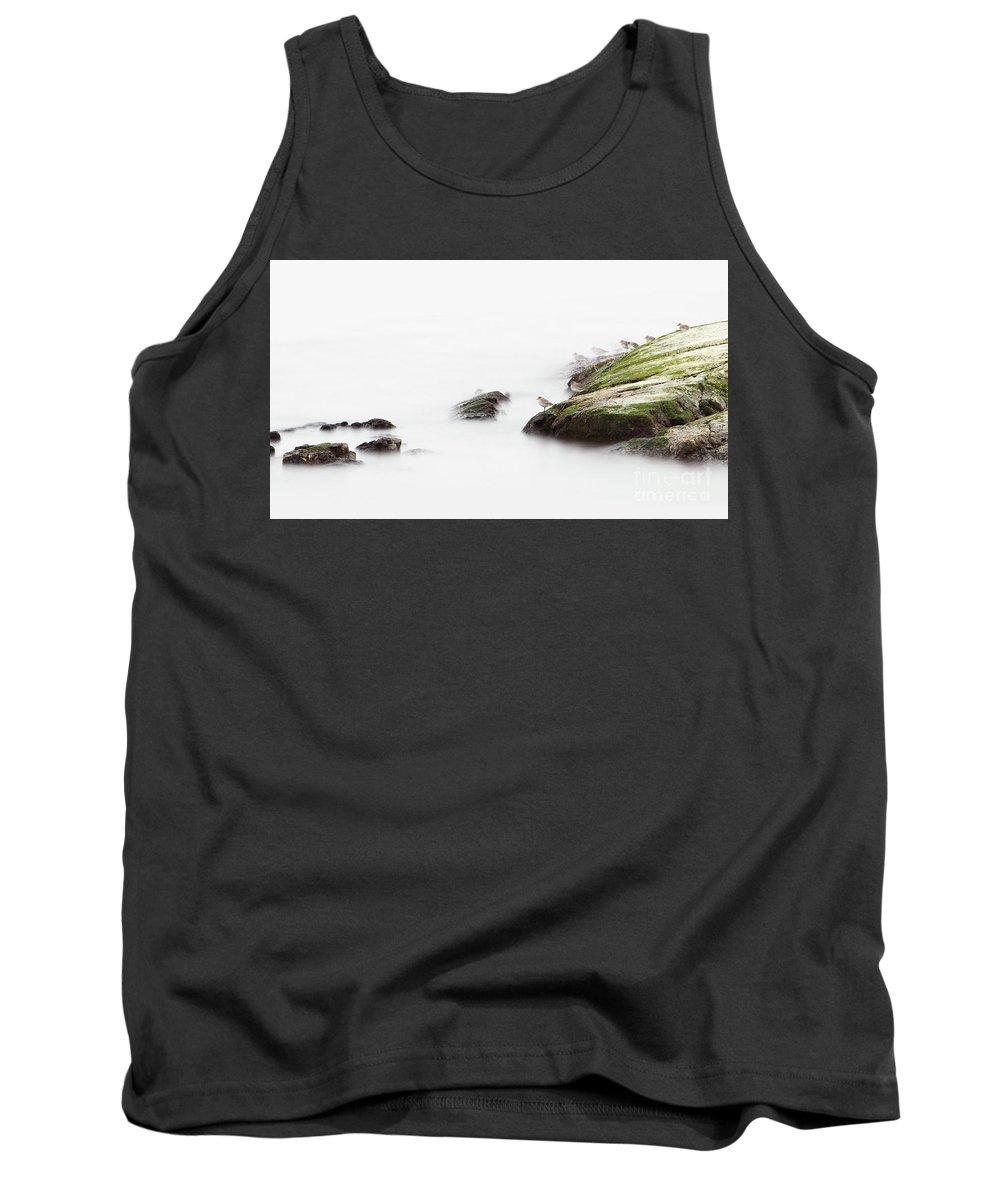 Pacific.ocean Tank Top featuring the photograph Turnstones At Waters Edge On Pacific Ocean by Colin Cuthbert