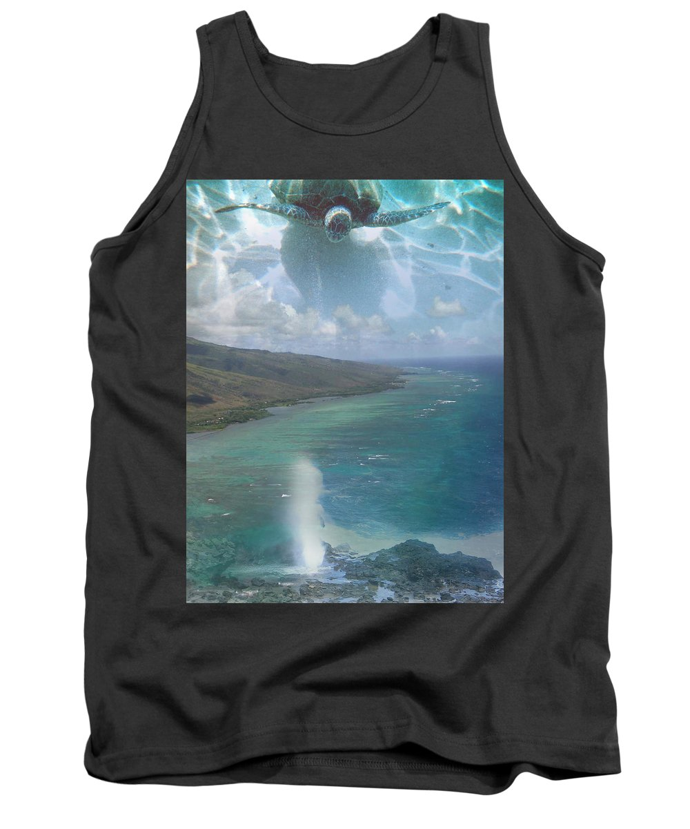 Turtle Tank Top featuring the photograph Turtle Vision by Angie Hamlin