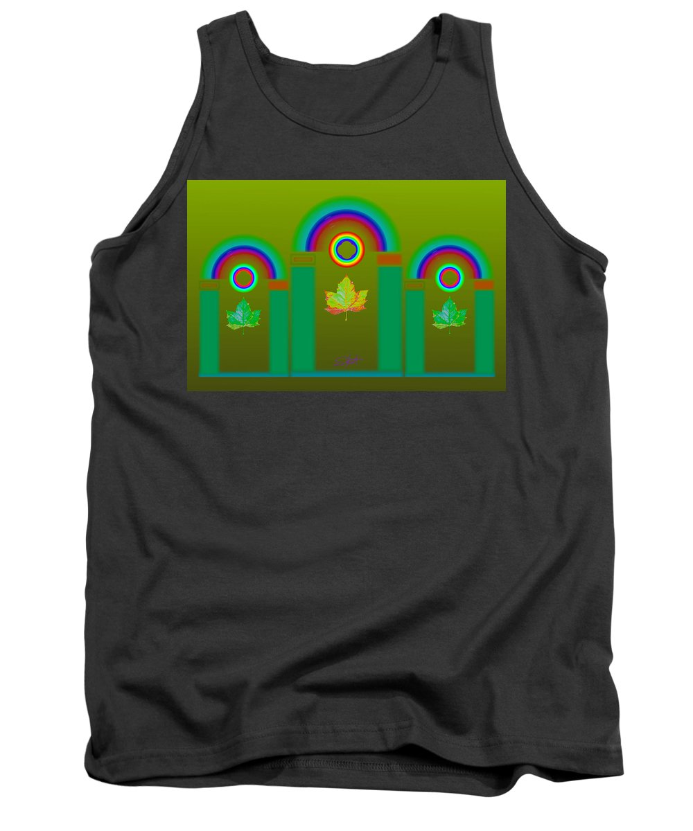 Classical Tank Top featuring the digital art Tuscan Olive by Charles Stuart