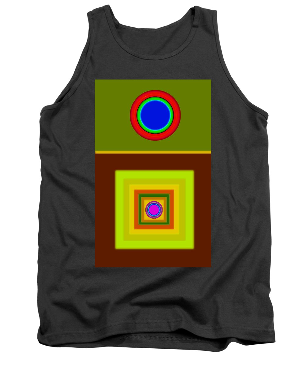 Classical Tank Top featuring the digital art Tuscan Sun by Charles Stuart