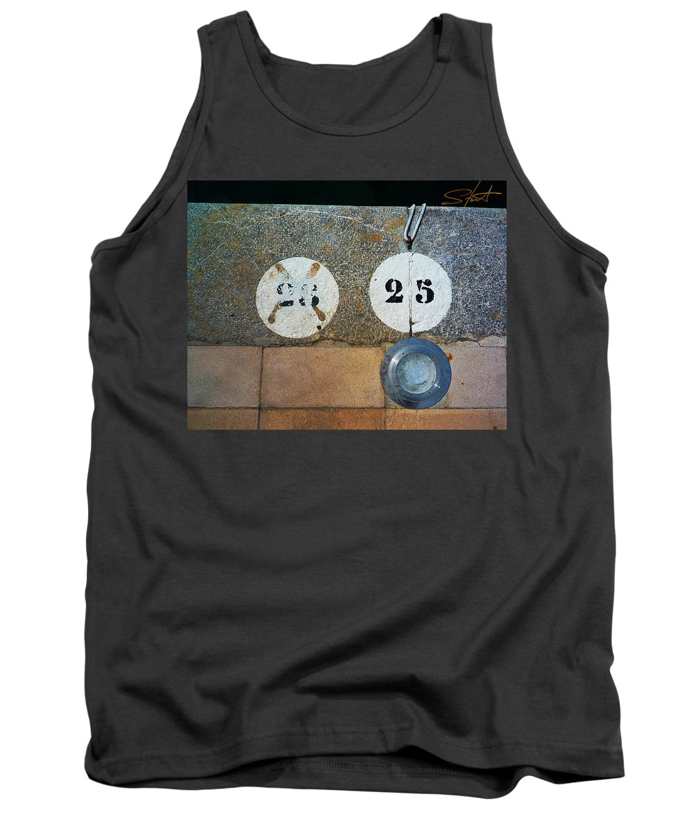 Number Tank Top featuring the photograph Twenty Five by Charles Stuart