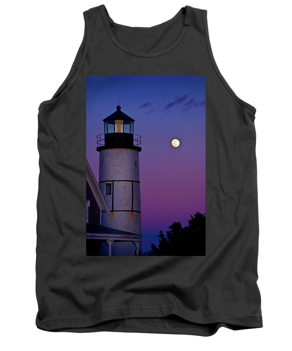 Twilight Tank Top featuring the photograph Twilight Sandy Neck by Charles Harden