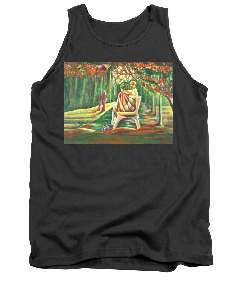 Twilight Tank Top featuring the painting Twilight Years by Usha Shantharam