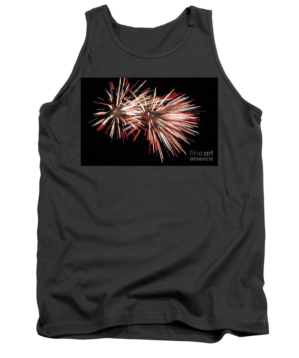 California Scenes Tank Top featuring the photograph Twin Burst by Norman Andrus
