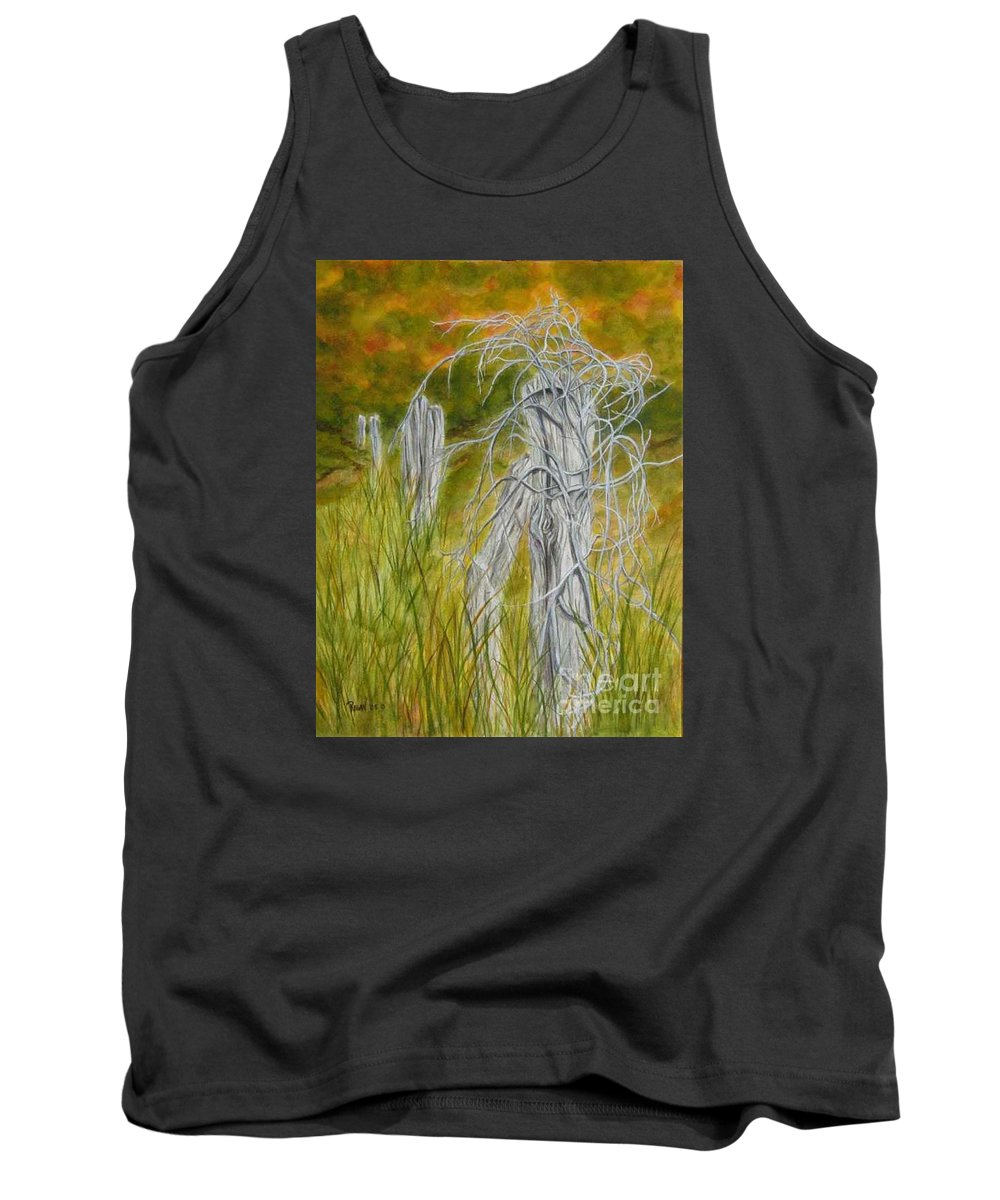 Landscape Tank Top featuring the painting Twisted by Regan J Smith