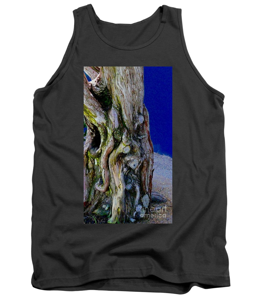 Trees Tank Top featuring the photograph Twists Turns Tumbles by Jacqueline Howe