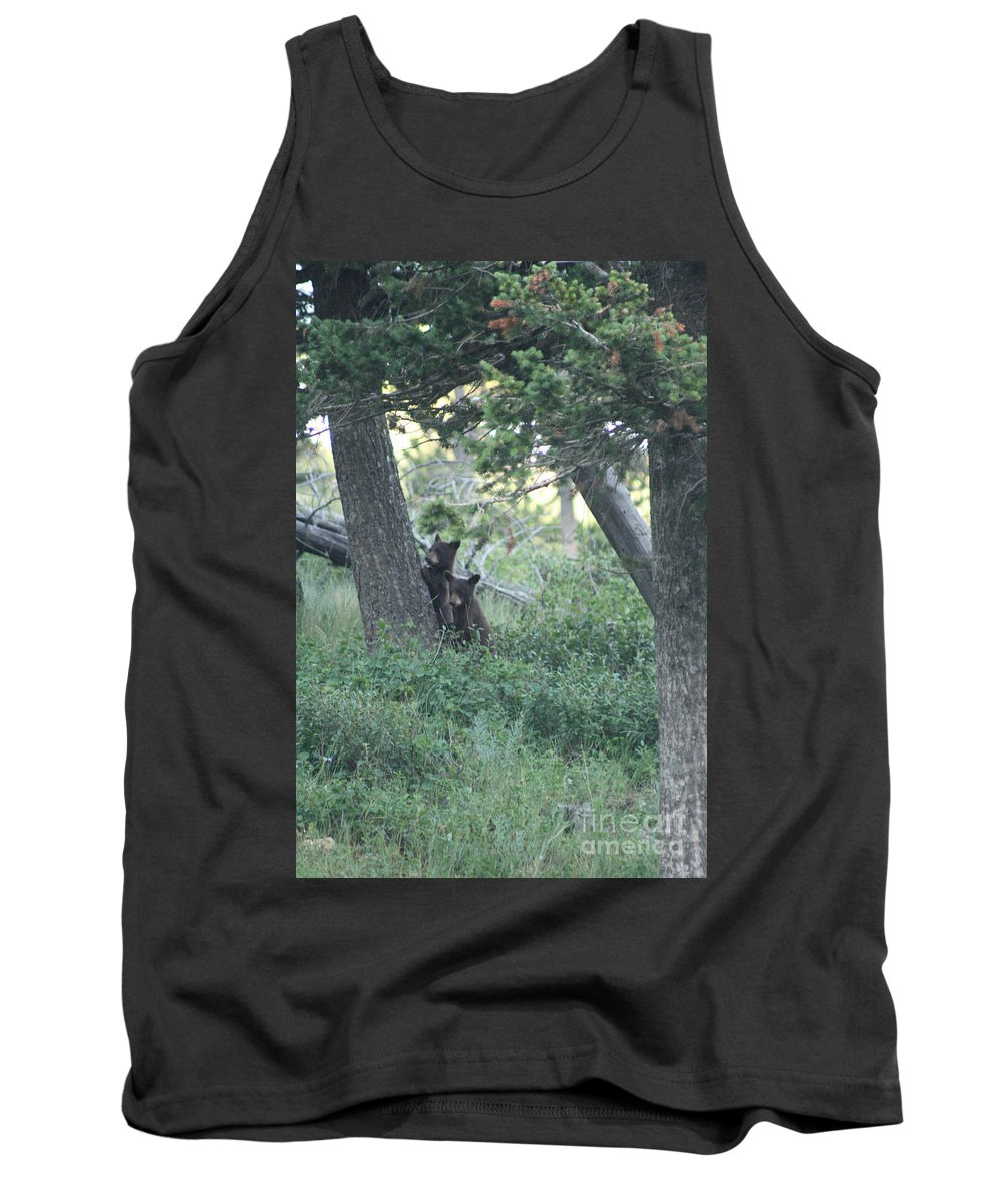 Two Tank Top featuring the photograph Two Bear Cubs by Mary Mikawoz