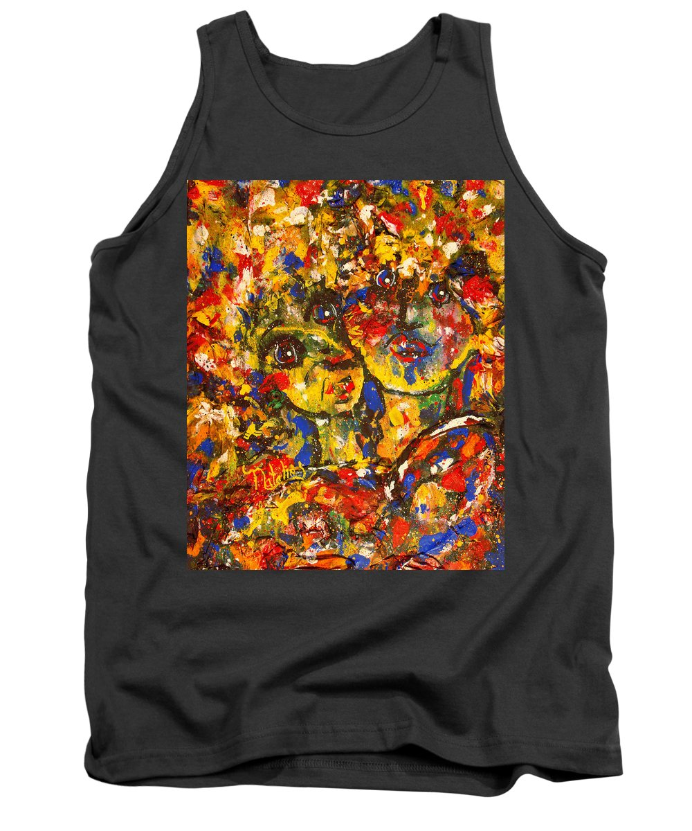 Best Friends Tank Top featuring the painting Two Best Friends by Natalie Holland