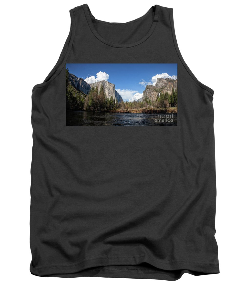 Yosemite National Park Tank Top featuring the photograph Two Falls by Sylvia Sanchez