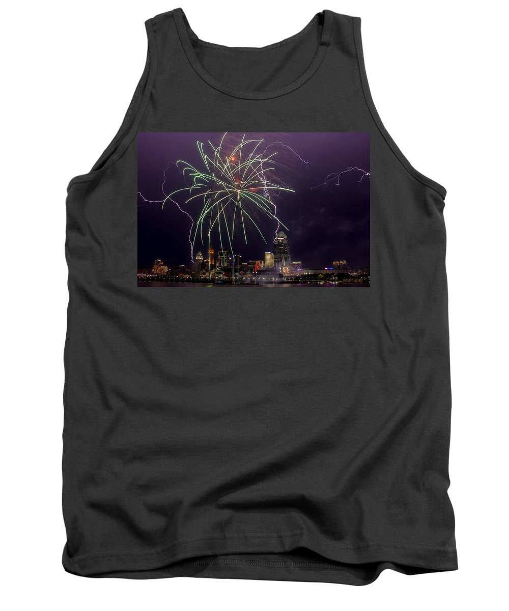 Fireworks Tank Top featuring the photograph Two For One by James Patterson