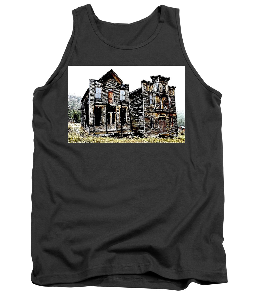 Ghost Town Tank Top featuring the photograph Two Ghosts by Nelson Strong