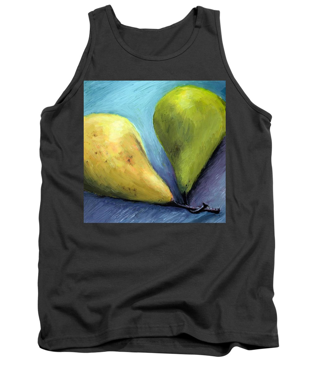 Pear Tank Top featuring the painting Two Pears Still Life by Michelle Calkins