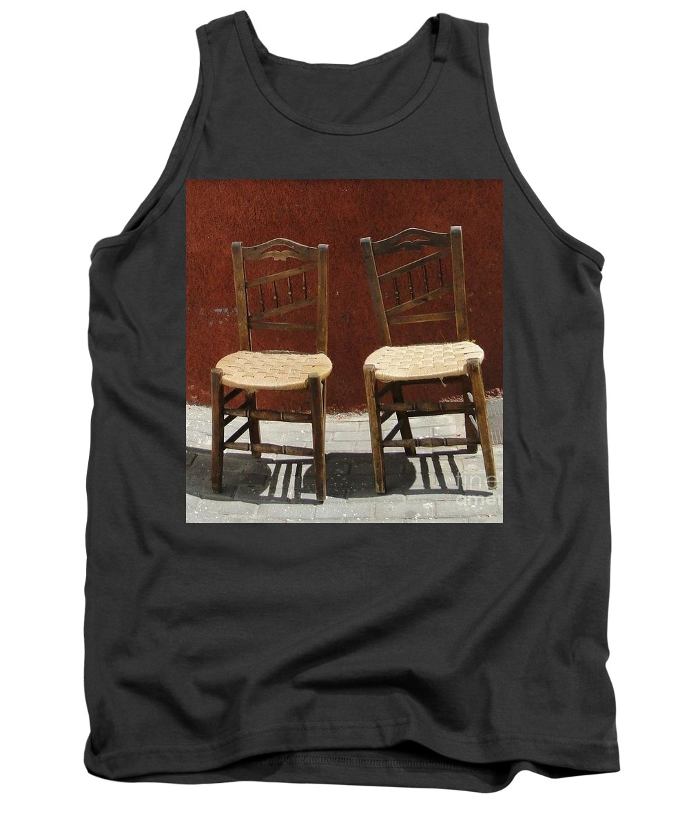 Chair Tank Top featuring the photograph Two Spainisch Chairs by Dita Van Stipriaan