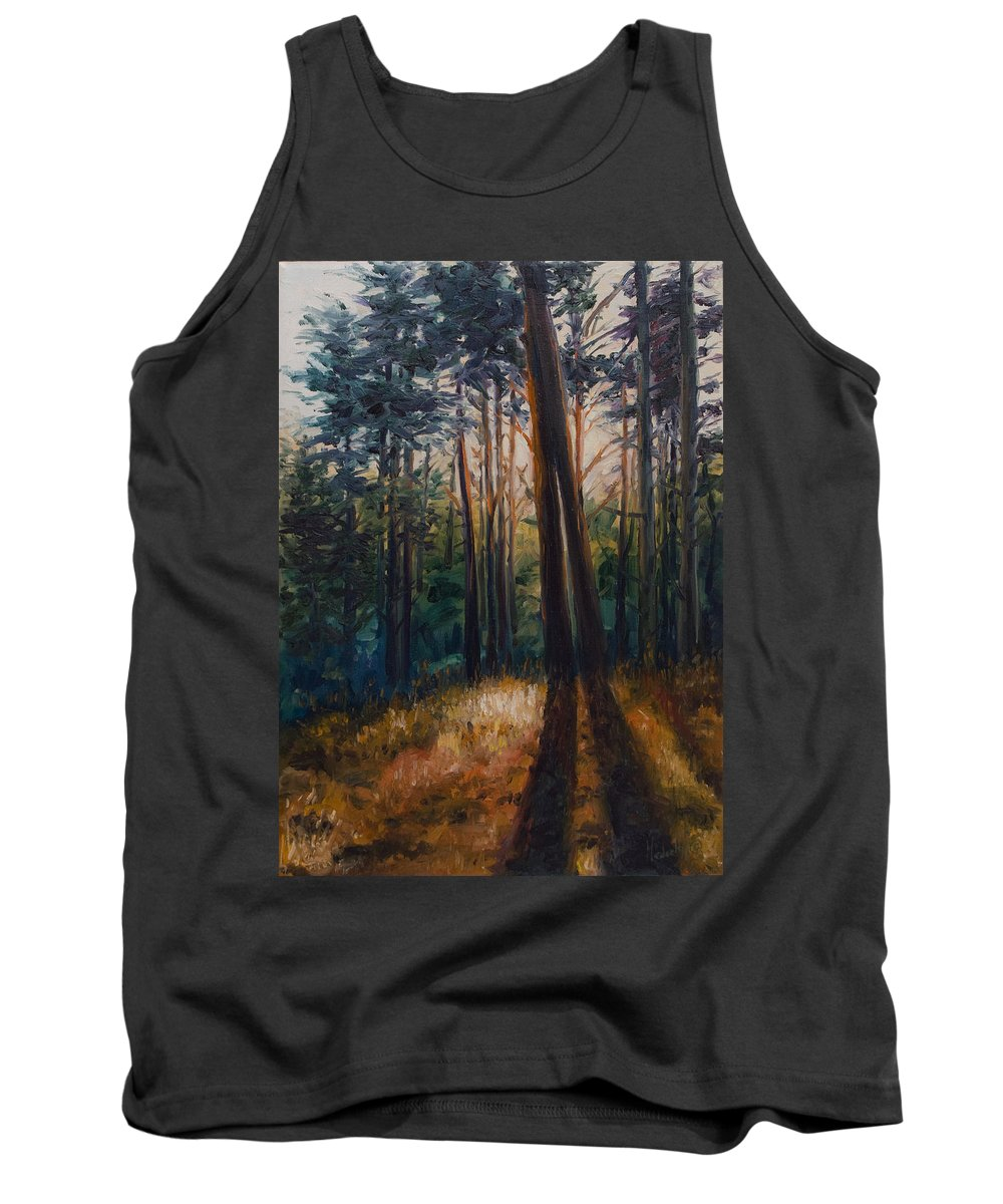 Trees Tank Top featuring the painting Two Trees by Rick Nederlof