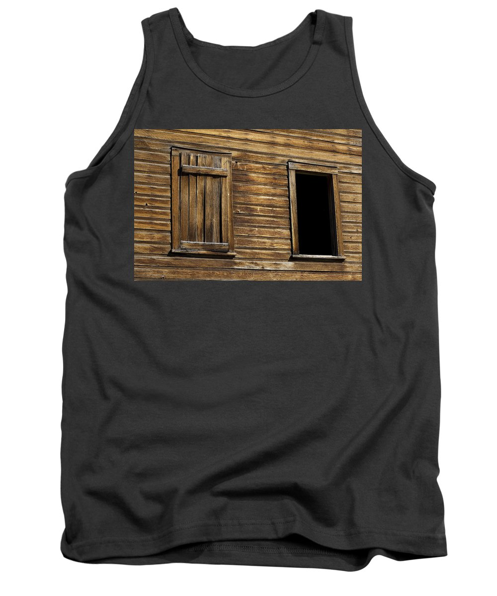 Wooden Windows Tank Top featuring the photograph Two Windows by Kelley King