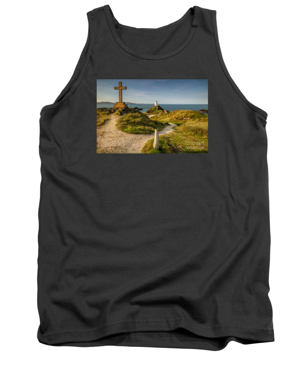 Lighthouse Tank Top featuring the photograph Twr Mawr Lighthouse by Adrian Evans