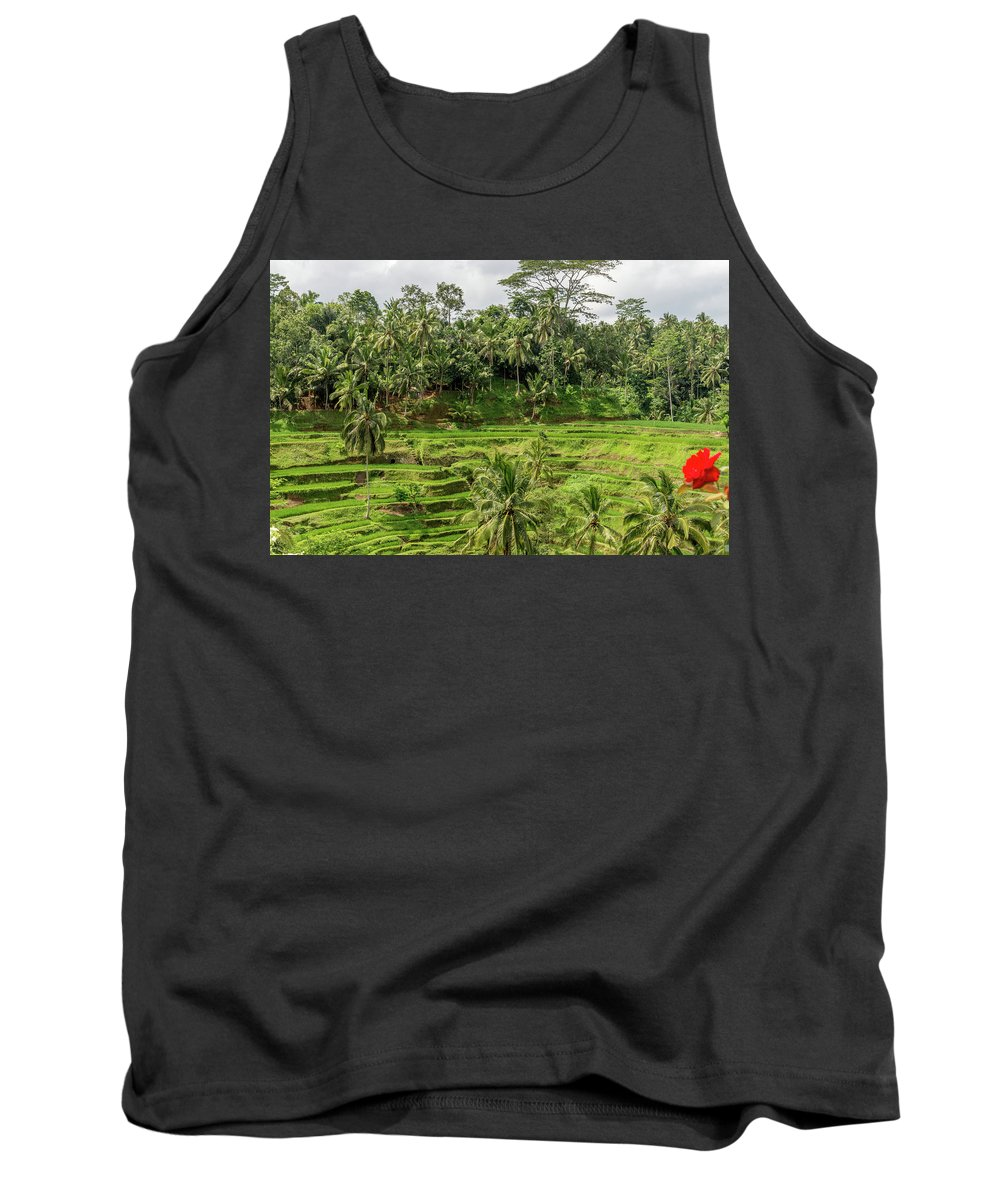 Bali Tank Top featuring the photograph Ubud Rice Paddy Fields by Michael Garner