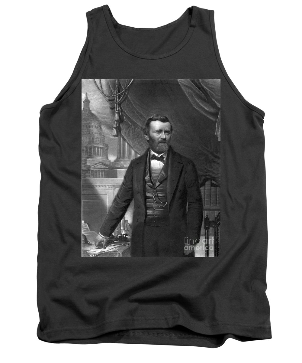 History Tank Top featuring the photograph Ulysses S. Grant, 18th American by Photo Researchers