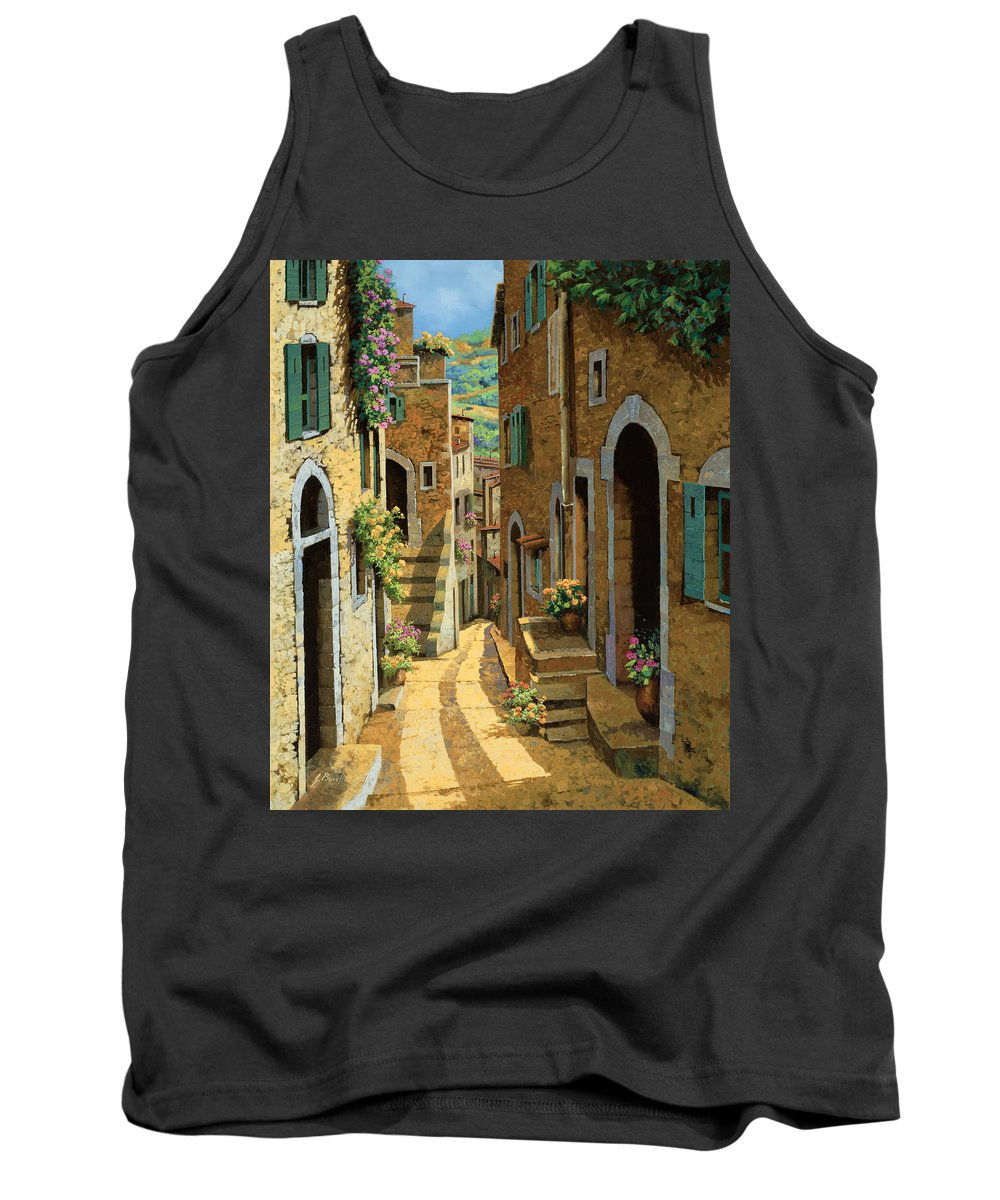 Village Tank Top featuring the painting Un Passaggio Tra Le Case by Guido Borelli