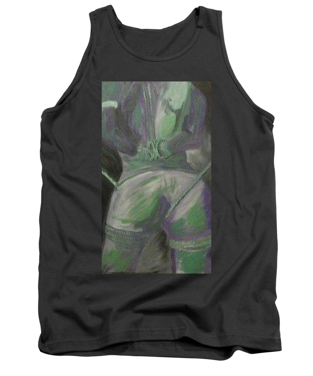 Bondage Tank Top featuring the painting Unbound by Melnay Studio