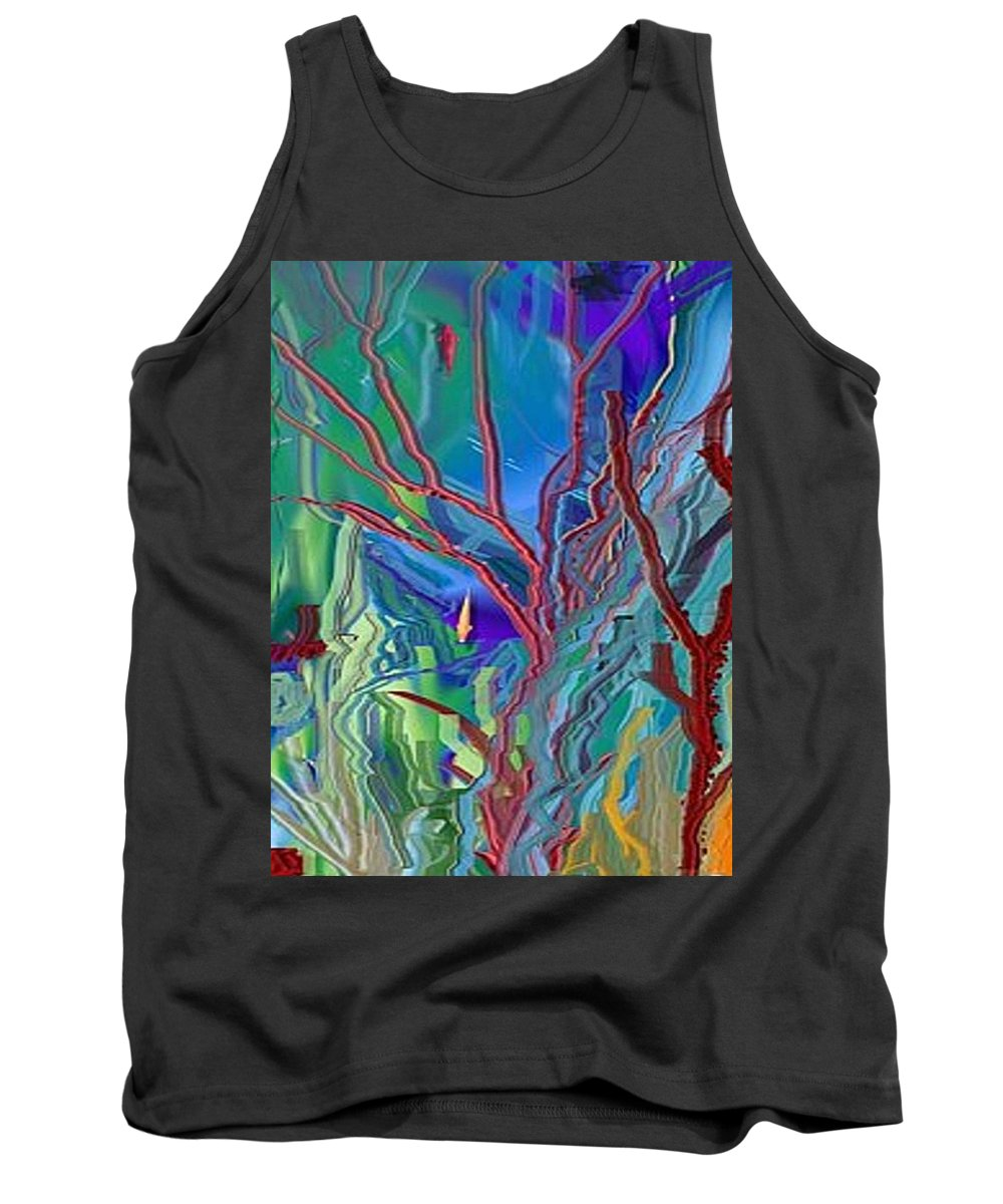 Sea-anenomies Tank Top featuring the digital art Under The Sea by Susan Oliver