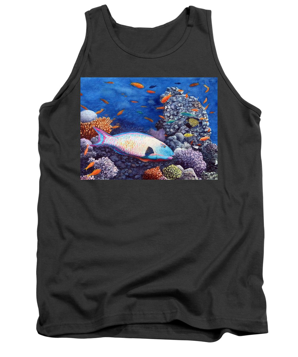 Fish Tank Top featuring the painting Underwater Treasures by Sharon Farber