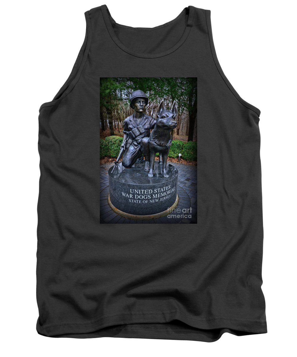 Paul Ward Tank Top featuring the photograph United States War Dog Memorial by Paul Ward