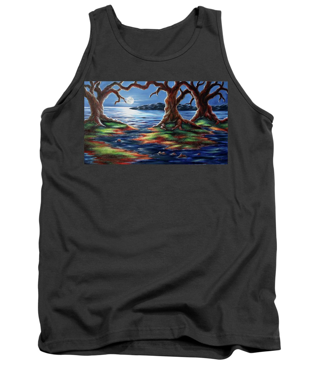 Textured Painting Tank Top featuring the painting United Trees by Jennifer McDuffie