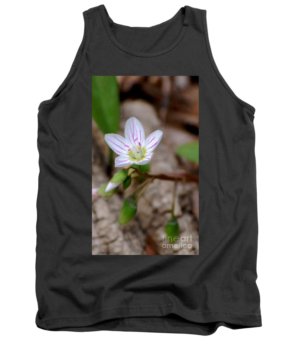 Floral Tank Top featuring the photograph Untitiled Floral by David Lane