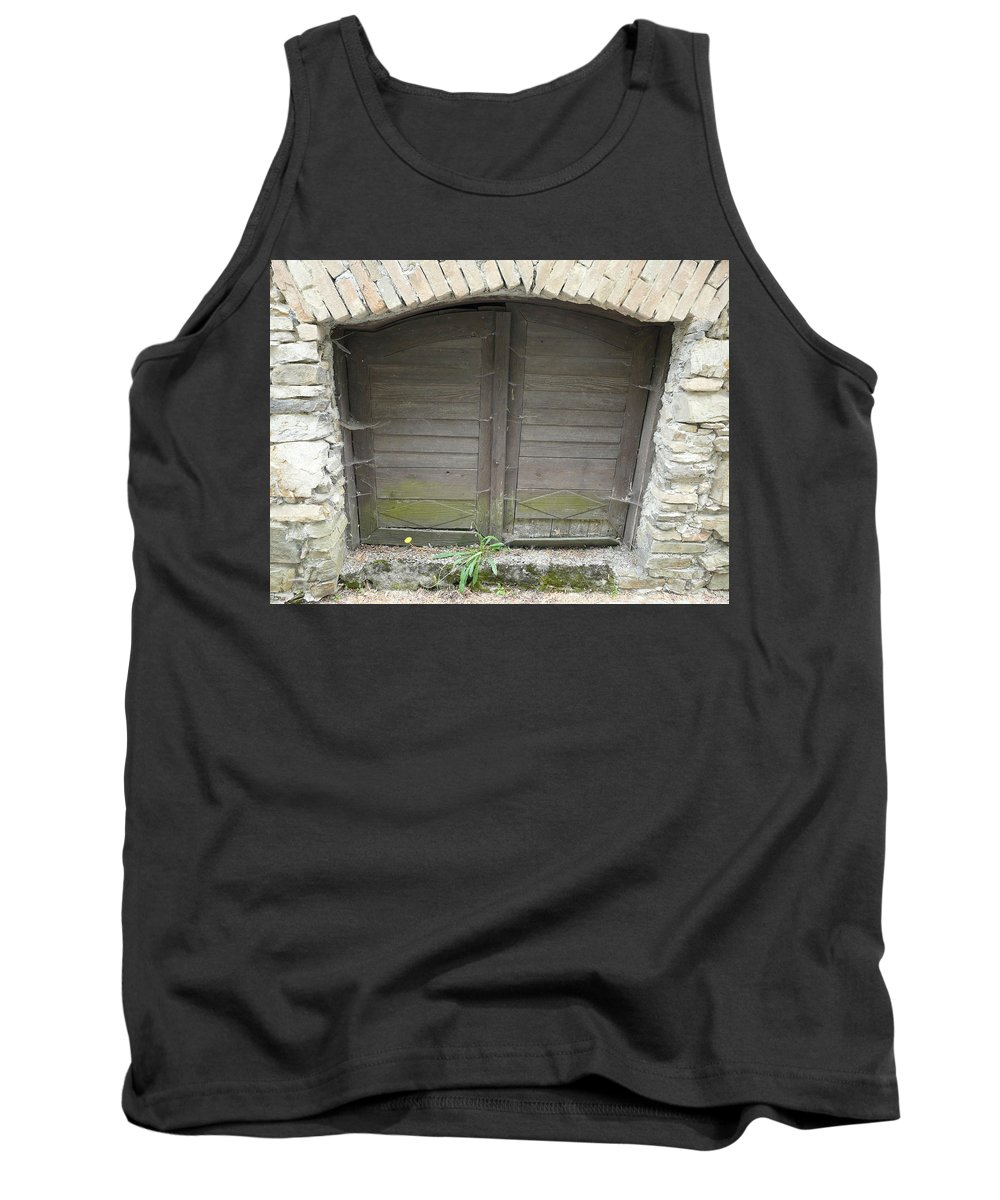 Old Tank Top featuring the photograph Unused Door by Valerie Ornstein
