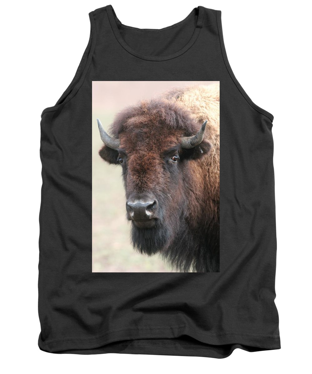 Buffalo Tank Top featuring the photograph Up Cose And Personal 2 by Lew Wescott