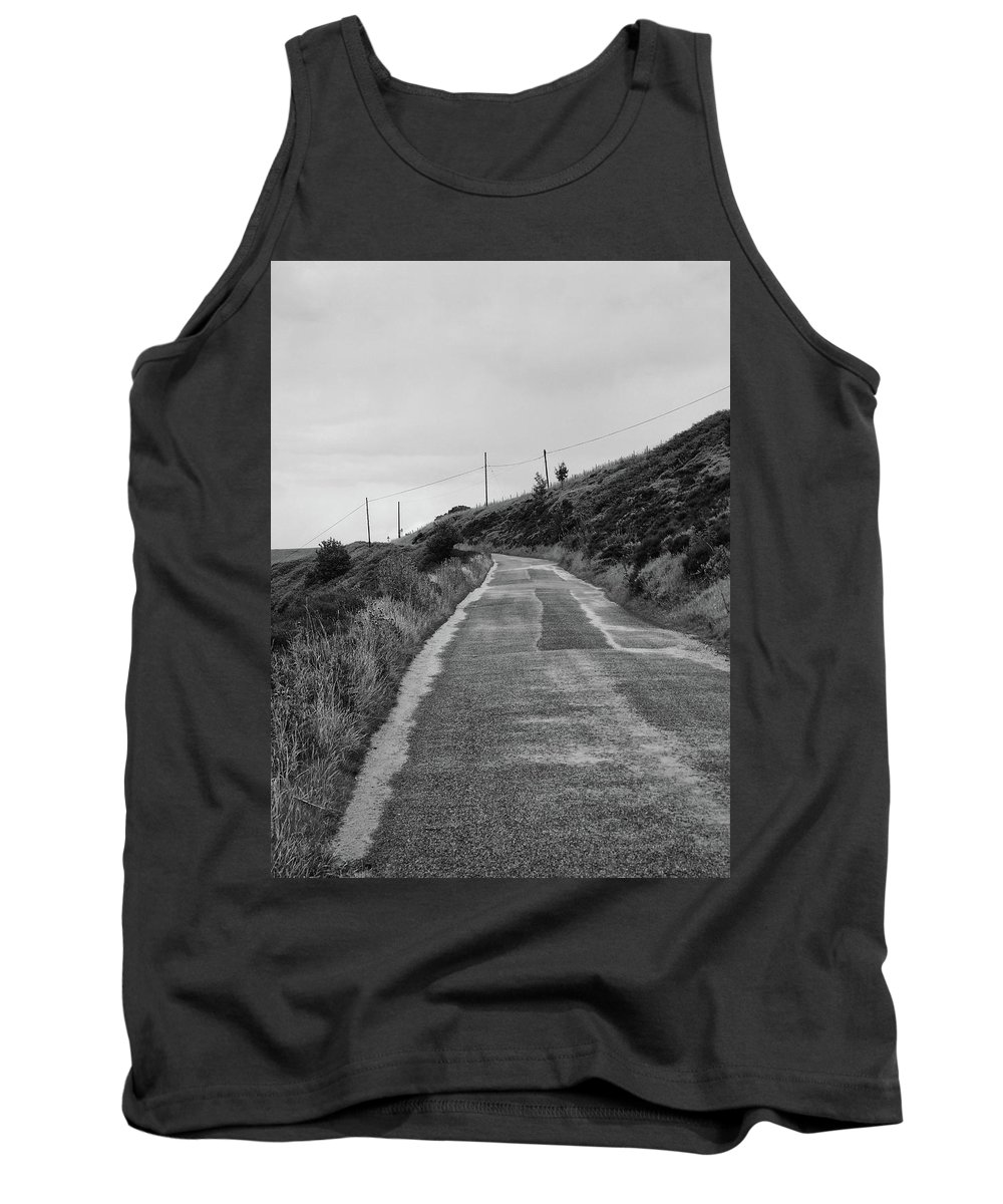 Road Tank Top featuring the photograph Up That Hill by Philip Openshaw