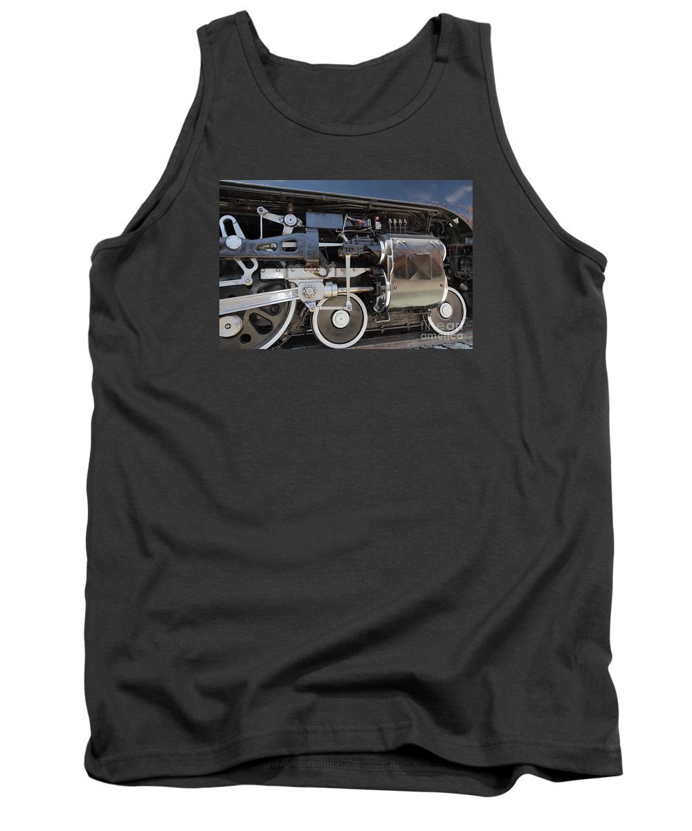 Uprr Tank Top featuring the photograph Uprr 844 Right Front by Marland Howard
