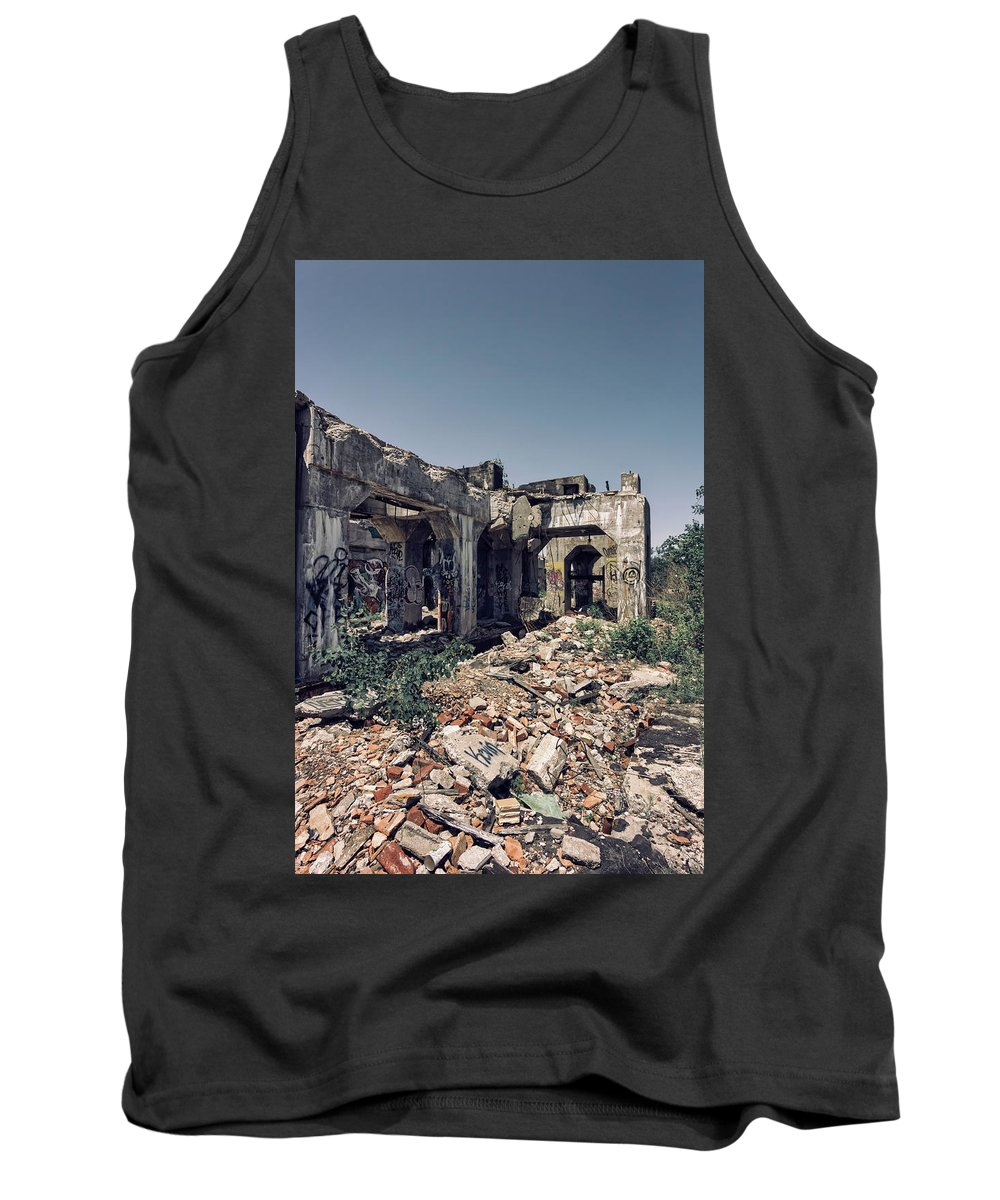 Graffiti Tank Top featuring the photograph Urban Graffiti by Kim Hojnacki