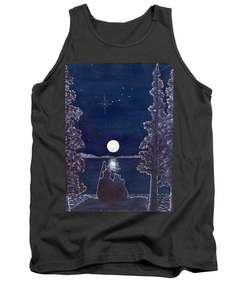 Bear Tank Top featuring the painting Ursa Minor by Catherine G McElroy