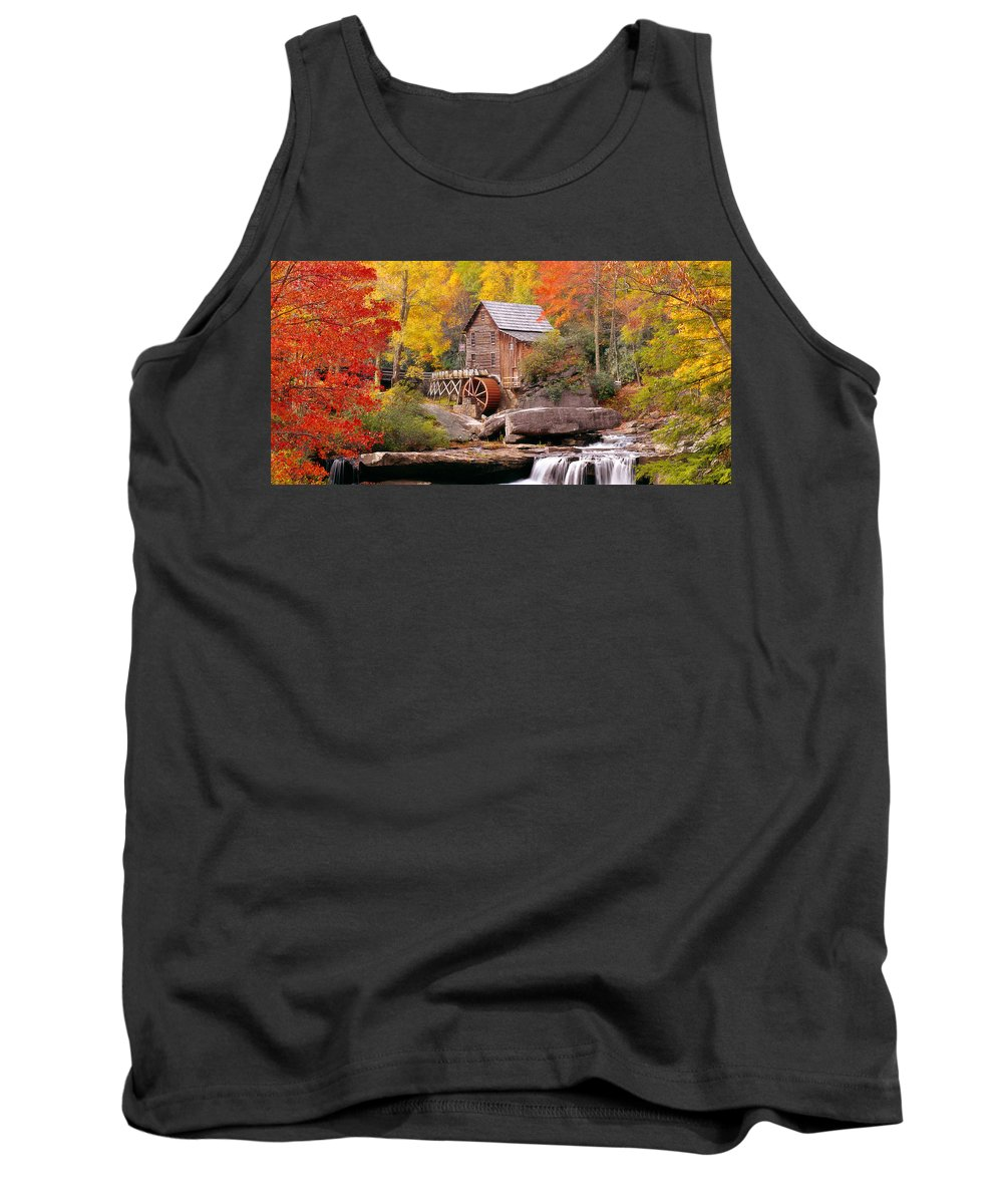 Photography Tank Top featuring the photograph Usa, West Virginia, Glade Creek Grist by Panoramic Images