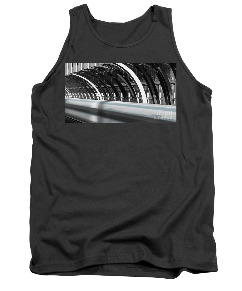 Trains Tank Top featuring the digital art Utopia Station by Richard Rizzo